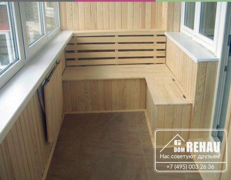 Отделка балкона 2