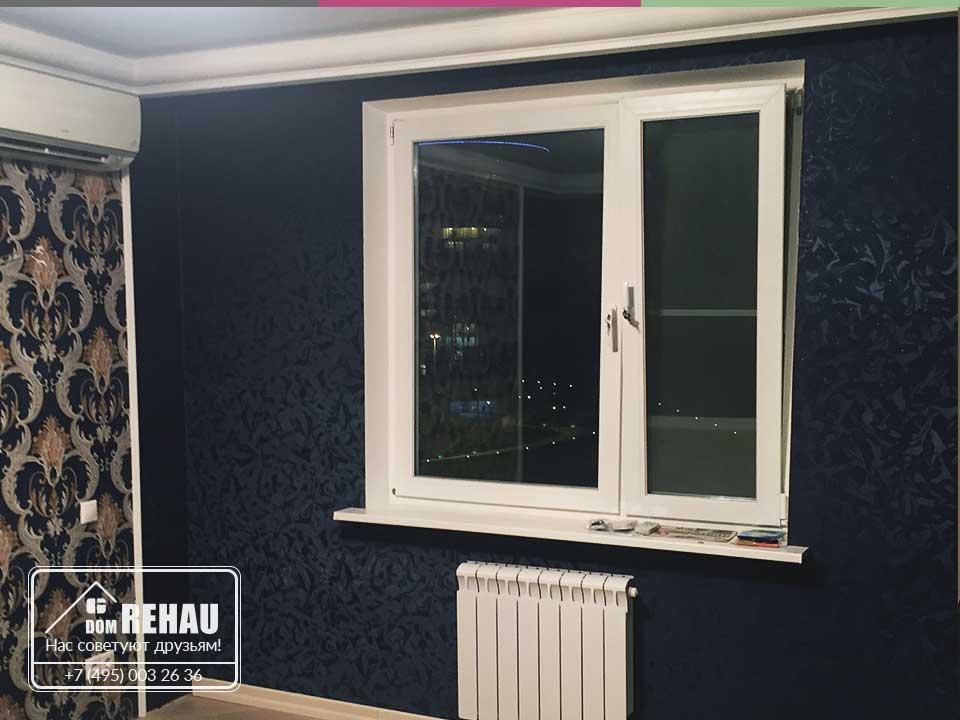 Окна ПВХ Rehau в квартире с евроремонтом
